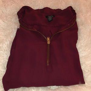 Rue 21 zipper blouse